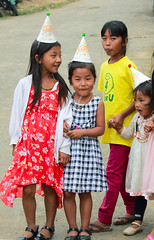 Birthday party in Chui village. Mon DC, Nagaland, India (explored) (n1ck fr0st) Tags: birthday party mountain chui villadge mon dc nagaland india girls kids