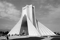 Azadi Tower (mesutsuat) Tags: iran tehran pentax k1000 fujifilm acros 100 fuji blackwhite 35mm film analog negative middle east
