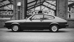 Bring Back an Oldie - 4 May 2018 - Canon EOS 60D - B&W - Ford Capri 2.8i Injection - 'The Old Warrior' (Gareth Wonfor (TempusVolat)) Tags: picmonkey ford capri 28i fordcapri capri28i canon eos 60d garethwonfor tempusvolat mrmorodo gareth wonfor tempus volat coupe 1980s black white mono monochrome warrior fighter champion 70s 80s boyracer