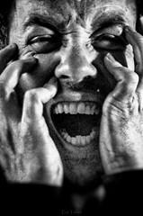 """""""LE CRI N°4"""" 06/04/2018 (erictrehet) Tags: monochrome nikon nikkor noir rennes personne homme visage bretagne blanc black colere rage white portrait illeetvilaine"""