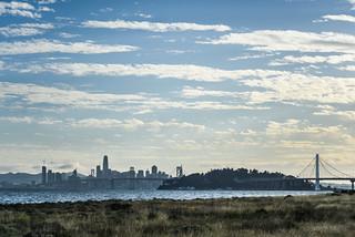 oakland outer harbor skyline