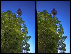 Berliner Fernsehturm 3-D / CrossView / Stereoscopy / HDRaw (Stereotron) Tags: berlin spreeathen mitte metropole hauptstadt capital metropolis brandenburg city urban fernsehturm telespargel televisiontower architecture europe germany deutschland crosseye crossview xview pair freeview sidebyside sbs kreuzblick 3d 3dphoto 3dstereo 3rddimension spatial stereo stereo3d stereophoto stereophotography stereoscopic stereoscopy stereotron threedimensional stereoview stereophotomaker stereophotograph 3dpicture 3dimage twin canon eos 550d yongnuo radio transmitter remote control synchron kitlens 1855mm tonemapping hdr hdri raw