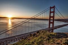 Golden Gate Sunrise (SPP - Photography) Tags: sunrise bridge battery bay city cityscape goldengatebridge california bayarea pacificcoast sanfrancisco batteryspencer costline ruggedcoast coast alcatraz costal