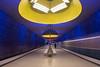 Im Untergrund (SonjaS.) Tags: münchen ubahn untergrund underground subway deutschland bayern farben licht bewegt langzeitbelichtung fisheye canon