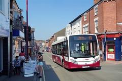 Yourbus 1415, Bath Street, Ilkeston (Lady Wulfrun) Tags: adl e20d yourbus yy67usl ascending bathstreet ilkeston may 2012 dunn heanor