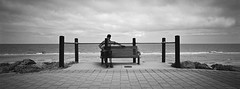 Resting (@fotodudenz) Tags: hasselblad xpan 30mm film rangefinder super ultra wide angle ilford xp2 glenelg beach adelaide south australia 2018 sculpture cloudy sky