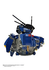"AMS FS111 Führungsmaschine Mark III ""JUNKER"" (Side View) (Benjamin Cheh) Tags: mecha lego afol wip"