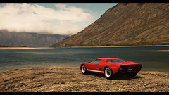 Ford GT40 (at1503) Tags: red newzealand ford american 1960s oldcar gt fordgt view lake clouds water rural granturismo classic vintage iconic icon granturismosport digitalmotorsport digitalphotography motorsport racing game gaming ps4 gt40 fordgt40