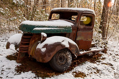 Off duty (DjD-567) Tags: rusty truck snow rotted deteriorated heap pickup franklin nh
