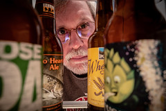 """Selecting a brew from the refigerator in the kitchen (Jack Blackstone) Tags: """"selfportrait"""" beer copyright selfie humor 7dwf """"opentheme"""" 2018 leicaq portrait"""