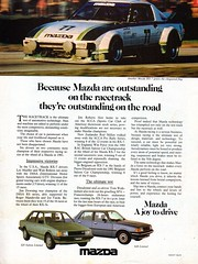 1982 Mazda BD 323 Limited Sedan CB 626 Limited Sedan RX-7 Sports Aussie Original Magazine Advertisement (Darren Marlow) Tags: 1 2 3 6 8 9 19 82 m mazda 323 b d bd 626 c cb l limited s sedan car cool collectible collectors classic a automobile v vehicle j jap japan japanese asian 80s r x 7 rx7