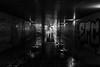 Sous le pont (Rudy Pilarski) Tags: nikon tamron d7100 18270 nb bw monochrome architecture architectura architectural light lumière paris france europe capitale urbano urban urbain city ville pont bridge reflet reflection eau water graffiti graff dowtown