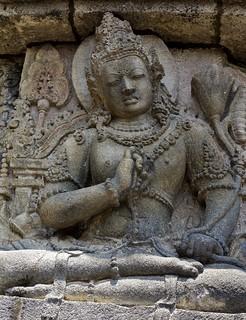 INDONESIEN, Java, hinduistische Tempelanlage Prambanan, Relief, 17342/9887
