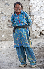 Woman in blue (bag_lady) Tags: ladakh pangonglake spangmik ladakhiwoman nomadic changpas changthangvalley