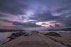 Camino del mar. (Amparo Hervella) Tags: candás asturias españa spain paisaje atardecer mar agua nube roca playa color largaexposición d7000 nikon nikond7000 puntodefuga