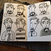 Scotts (Don Moyer) Tags: face faces ink drawing grid moleskine notebook moyer donmoyer brushpen