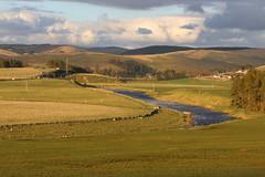 Upper Clyde valley near Abington (kitmasterbloke) Tags: abington riverclyde scotland scenery water burn pool hills pasature