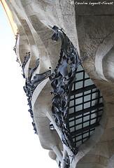 Barcelona - Layered (Caroline Forest Images) Tags: spain barcelona catalunya travel europe city cityscape architecture passeigdegracia gaudi antoniogaudi lapedrera casamilà