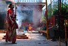 Nepal- Katmandu- Budhanilkantha temple (venturidonatella) Tags: asia nepal katmandu nikon nikond300 d300 persone people gentes portrait ritratto colori colors fumo smoke emozioni tempio temple buddha buddhism budhanilkantha budhanilkanthatemple vishnu hinduism