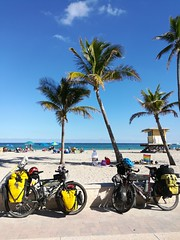 Cycling along South Beach