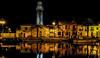 palavas (joboss83) Tags: port bateau boat mer méditerranée sea night nuit france fuji eau couleurs jaune orange phare headlight maison porte fenêtre lampadaire