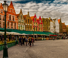 Candy House (BeNowMeHere) Tags: ifttt 500px trip benowmehere belgium bruges candy candyhouse city oldtown village buildings cityscape clouds colorful colors history house old travel people background tourist break pedestrian town square street crowd