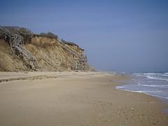 P5035963 (Paul Henegan) Tags: montaukny beach bluff clouds shore sky stairs
