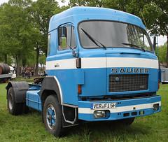 Swiss semi (Schwanzus_Longus) Tags: bruchhausen vilsen german germany old classic vintage vehicle swiss switzerland truck lorry trailer tractor coe cab over engine saurer 5df 5 df