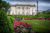 Kentucky Govenor's Mansion (donnieking1811) Tags: kentucky frankfort governorsmansion architecture building gardens flowers lampposts trees columns exterior outdoors sky clouds hdr canon 60d lightroom photomatixpro