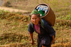 The weight on my shoulders (catoledo) Tags: people asian tribes vietnam 2018 sapa woman look eyes
