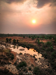 Elements (saurabh_biswas) Tags: sky tree soil landscape sunset water grass scenere rocks
