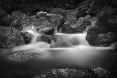 Die unendliche Geschichte (PeterThoeny) Tags: sunol california siliconvalley sanfranciscobay sanfranciscobayarea southbay sunolregionalwilderness littleyosemite park water waterfall rock stone light longexposure ndfilter neutraldensityfilter monochrome blackandwhite sony sonya7 a7 a7ii a7mii alpha7mii ilce7m2 fullframe vintagelens dreamlens canon50mmf095 canon 1xp raw photomatix hdr qualityhdr qualityhdrphotography fav200