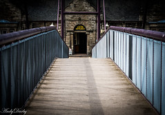 Station Entrance_ (Darbs66) Tags: bankholiday bridgnorth d500 severn valley railway severnvalleyrailway shropshire train station candid steam urban bridge