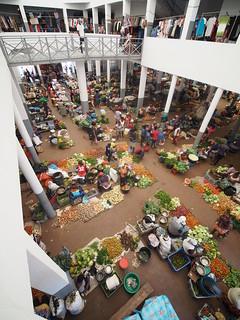 Cabo Verde Cape Verde Ilha de Santiago Island Assomada Market Hall © Kapverden Kapverdische Inseln Kap Verde Markt ©