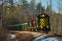 Hard Pull (ryanfothergill) Tags: northcoast newhampshire train railroad rail gp382 emd ossipee nhn