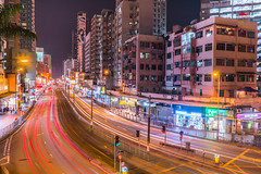 A Busy Night ! (Sedrictsang) Tags: light motion city hongkong yuenlong night sony a7r2 28mm70mm f22