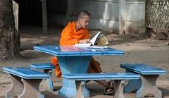 Luangprabang Monk Working (dorneyphoto) Tags: elements lao luangprabang monk saariysqualitypicturessaariysqualitypictures