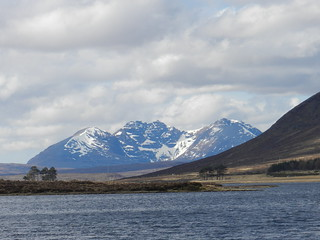 An Teallach(3,484ft), from Loch Droma, Highlands of Scotland, April 2018