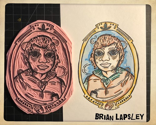 "New ""Frodo Baggins"" press plate is all done! Hooray!!! #rubberstamp #lotr #make #craft #tolkien #brianlapsley"