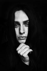 Jone (.Betina.) Tags: portrait portraiture monochrome mood mono betinalaplante blackandwhite moody hand woman