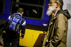 Allowed to Weep (Paradise.Found) Tags: streetphotography people city streettogs urban shadow light strange shadows street human streetphotographer candid art unposed flickr decisivemoment seattle miltongarrisonphotography paradisefound documentary interference environment life perception society reference framing culture social critical descriptive interpretive usa sight observer depthoffield insight essential alienskinexposure bus yellow blue unattractive gray white beard woman sunglasses akimbo arms