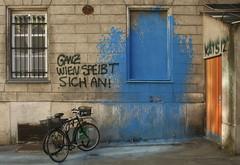 The Whole of Vienna Pukes (Wolfgang Bazer) Tags: ich speib mich an sebastian kurz hc strache övp fpö rightwing conservatives farrightists wien vienna österreich austria