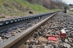 Appenzeller Bahnen - End of traditional Ruckhalde line 2018 (Kecko) Tags: 2018 kecko switzerland swiss suisse svizzera schweiz ostschweiz stgallen sg sanktgallen ruckhalde ab appenzellerbahn appenzellerbahnen bahn gleis track rail zahnstange rack railway railroad europe swissphoto geotagged geo:lat=47413570 geo:lon=9360610