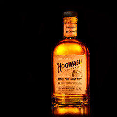 Hogwash (grahamrobb888) Tags: hogwash booze whisky drink refreshment bottle reflection golden glow product d800 nikon nikond800 nikkor nikkor85mmf18 speedlight sb700