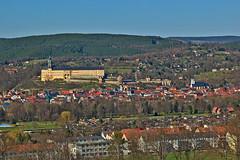 Rudolstadt with Heidecksburg (pstenzel71) Tags: deutschland rudolstadt heidecksburg thüringen thuringia castle town schloss darktable samsungnx