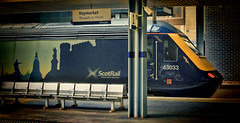 Scotland's Future (whosoever2) Tags: uk united kingdom gb great britain scotland nikon d7100 train railway railroad march 2018 haymarket edinburgh hst class43 scotrail sevencities 43033