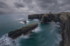 Close to the Edge (Andrew G Robertson) Tags: wick castle caithness coast old seascape sea stack long exposure