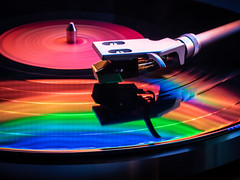 Listening and light painting 01 (Podsville) Tags: lightpainting music turntable vinyl vinylrecord