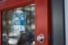Open (Katrina Wright) Tags: granvilleisland04212018 dsc7402 sign window door opensign open bokeh glass