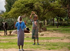 Holding Twine (Rod Waddington) Tags: africa african afrique afrika äthiopien ethiopia ethiopian ethnic etiopia ethnicity ethiopie etiopian tigray women twine landscape girls farming farm rural